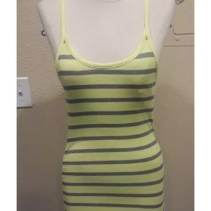 Guess YELLOW & GRAY FITTED RACERBACK  DRESS  XS